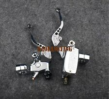 Chrome Brake Master Cylinder Clutch Levers for Honda STEED 400 shadow 600 VT750