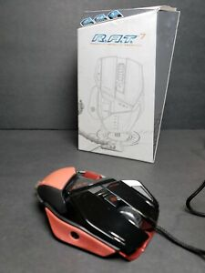 Mad Catz RAT R.A.T. 7 Gaming Video Game Mouse Glossy Black and Red TESTED