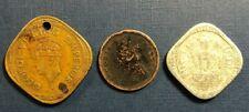Rough Lot of India coins 1944 2 Annas, 1886 1/12 Anna, 1968 5 Paise
