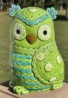 Vintage Mid Century Ceramic Owl Coin Bank Hand Painted Lefton H6837 Japan