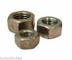 """1/4"""" UNF STEEL NUTS SELF COLOUR - 10 PACK"""