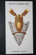 Arrowhead  Neolithic Flint  Elf-shot  Talismanic Charm  1920's Vintage Card  VGC