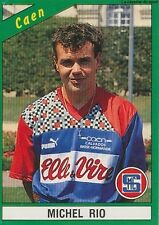 N°050 MICHEL RIO SM.CAEN VIGNETTE PANINI FOOTBALL 91 STICKER 1991