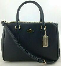 New Authentic Coach F44958 Leather Surrey Carryall Satchel Purse Handbag Black