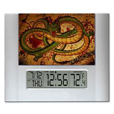 Fire Breathing Dragon Ball Z Digital Wall Desk Clock with temperature + alarm
