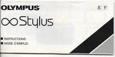 Olumpus Stylus Instruction Booklet, Brochure and other Ephemera