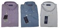 Ralph Lauren Purple Label Italy Mens Button Down Solid Blue White Dress Shirt
