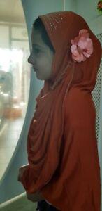 Muslim ladies scarf catholic women headcover,girls wedding 1 flower hijab UkSell