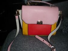 Accessorize Monsoon Bag   Red / Yellow / shoulder crossbody strap, Small satchel