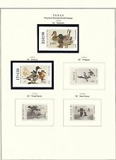 STATE OF TEXAS HUNTING PERMIT STAMPS 1981 // 2003 MOUNTED ON 4 PAGES BT6451