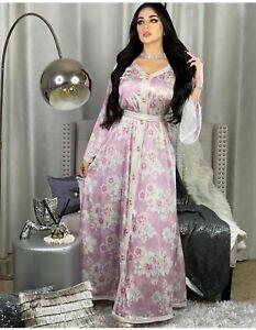 Woman Muslim Ramadan African Printed Robe Dubai Luxury Dress Abaya Clothing