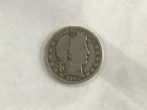 1892 Barber Silver Half Dollar First Year of Issue    E8222