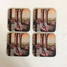 NEW PACK DRINKS COASTERS WITH WINE GLASS DESIGN BY ART BY THREE