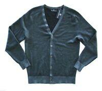 Nwt Hart Schaffner Marx Merino Wool Gray Knit Button Front Cardigan Sweater XL