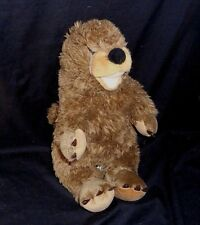 "16"" BUILD A BEAR BROWN SHADOW GROUNDHOG OTTER BEAVER STUFFED ANIMAL PLUSH TOY"