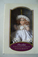 DG Creations Porcelain Doll Collectible Christmas Ornament Collectors Item