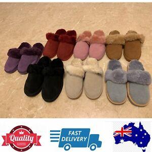 Warm Comfy Scuff slippers 100% sheepskin Aussie Ladies size measurement,AU Stock