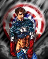 Erotic Avengers Captain America Gay Nude 11 X 17 Art Print Marvel Fan Art
