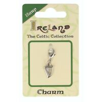 Celtic Collection Small Metal Harp Charm