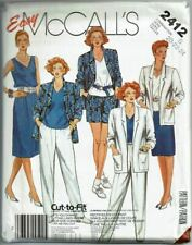 McCalls Sewing Pattern 2412 Misses Outfit Casual Work Size 20 22 24