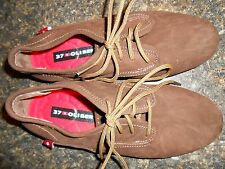Oliberte brown nubuck Eloka leather oxford shoes flats display size 7M New nobox