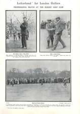 1907 Professional Match At The Surrey Golf Club, Balfour, Braid, Vardon