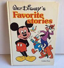 Walt Disney's Favorite Stories Golden Press Vintage Children's Book  HC/VGC 1978