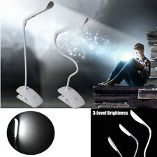 Light-dimmer LED Flexible Reading Light Clip-on Bed Table Desk Lamp With Battery
