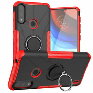 For Motorola Moto E7 Power / E7i Case Power Armor Shockproof Ring Stand Cover