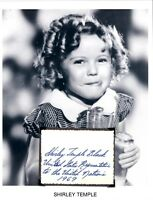 Shirley Temple Autograph Bright Eyes Curly Top Heidi On the Good Ship Lollipop