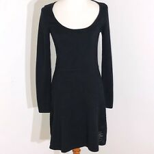 Victoria's Secret long sleeve sweater sheath dress women's size Small black
