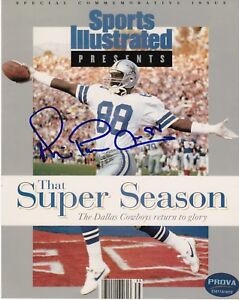 MICHAEL IRVIN DALLAS COWBOYS PROVA AUTHENTICATED SPORTS ILLUSTRATED SIGNED 8x10