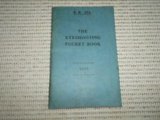B R 254 The Eyeshooting Pocket Book. 1941. Vintage Admiralty Publication