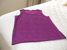 Ladies Top Size Medium  Bust 98 cm Colour Purple, Design  Suzannegrae