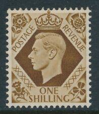 GB 1937-1947 BISTRE-BROWN 1/- FINE MINT MNH SG475