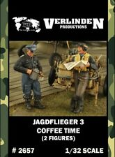 Verlinden 1:32 Jagdflieger 3 Coffee Time - 2 Resin Figures Kit #2657