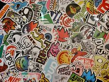 Skate Stickers Lot (10 or 40 pcs) - Skateboard water bottle- QUICK SHIP!