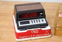 Vintage Retro Mid-Century Modern Cosmo Time Alarm Clock Nightstand Japan NOS
