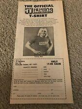 Vintage 1983 Tommy Rich Pro Wrestling Illustrated Shirt Print Ad 1980s Nwa Ecw