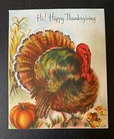 "Vintage Thanksgiving Greeting Card with Big Large Turkey ""Hallmark"""