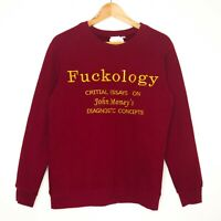 Fuckology Critical Essays John Money's Books Womens Jumper Sweater Maroon