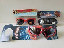 3 x Boys Girls Spider Man Captain Merica Wonder Woman UV Sunglasses lot for Kids