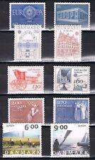 Europa CEPT Denemarken 1960-1969-1978-1979-1982-2004 cat waarde € 11,80