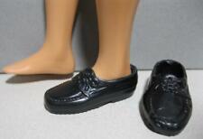 "Barbie Doll Skipper's Boyfriend clothes: KEVIN's Black Loafer Shoes fit 11"" Doll"