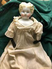 Antique German Doll (Porcelain, 1860s) in a vintage Chemise