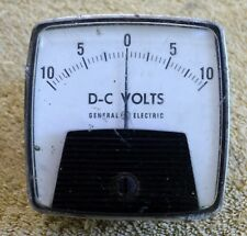 Vintage General Electric D-C 10V Volt Gauge Panel Meter