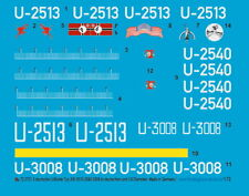 Peddinghaus-Decals 1/72 3731 3 deutsche U-Boot Typ XXI  2513-2540-3008 in deutsc