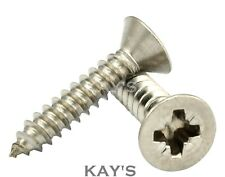 POZI COUNTERSUNK SELF TAPPING SCREWS A2 STAINLESS STEEL TAPPERS No.6,8,10,12,