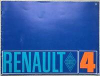 RENAULT 4 Car Sales Brochure c1968 DUTCH TEXT