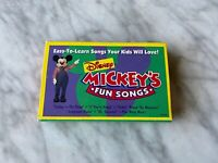 Mickey Mouse Mickey's Fun Songs CASSETTE Tape 1994 Walt Disney Home Video RARE!